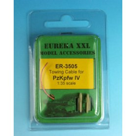 Eureka XXL 1:35 Towing cables w/resin endings for Pz.Kpfw.IV Ausf.A-J