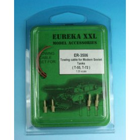 Eureka XXL 1:35 Towing cables w/resin endings for T-54 / T-55 / T-62