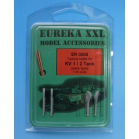 Eureka XXL 1:35 Towing cables w/resin endings for KV-1 / KV-2 early version