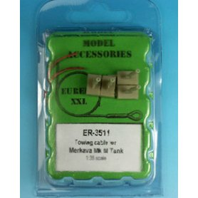 Eureka XXL 1:35 Towing cables w/resin endings for Merkava Mk.II