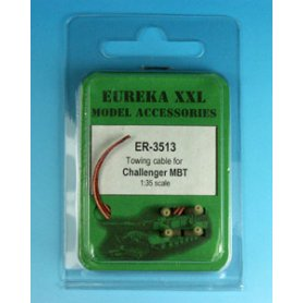 Eureka XXL 1:35 Towing cables w/resin endings for Challenger