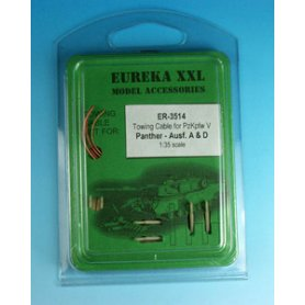 Eureka XXL 1:35 Towing cables w/resin endings for Pz.Kpfw.V Panther Ausf.A / Ausf.D