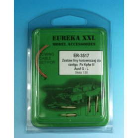 Eureka XXL 1:35 Towing cables w/resin endings for Pz.Kpfw.III Ausf.G-J / Ausf.L