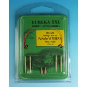 Eureka XXL 1:35 Towing cables w/resin endings for Pz.Kpfw.VI King Tiger