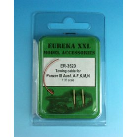 Eureka XXL 1:35 Towing cables w/resin endings for Pz.Kpfw.III Ausf.A-F / Ausf.K / Ausf.M-N