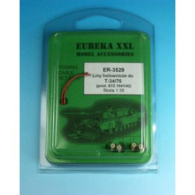 Eureka XXL 1:35 Towing cables w/resin endings for T-34-76 Model 1941 / Model 1942 Zavod STZ