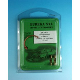 Eureka XXL 1:35 Towing cables w/resin endings for T-34-85 Model 1944 Zavod 112
