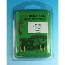 Eureka XXL 1:35 Towing cables w/resin endings for T-34-85 Model 1945