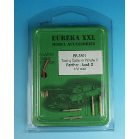 Eureka XXL 1:35 Towing cables w/resin endings for Pz.Kpfw.V Panther Ausf.G