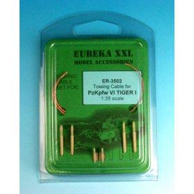 Eureka XXL 1:35 Liny holownicze z żywicznymi końcówkami do Pz.Kpfw.VI Tiger