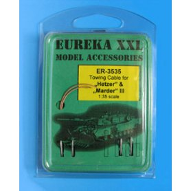 Eureka XXL 1:35 Towing cables w/resin endings for Jagdpanzer 38(t) Hetzer / Marder III / Marder II