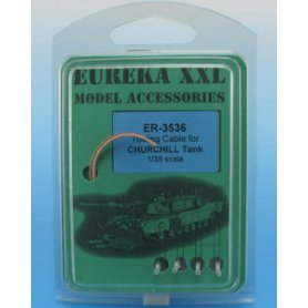 Eureka XXL 1:35 Towing cables w/resin endings for Churchill