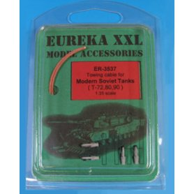 Eureka XXL 1:35 Towing cables w/resin endings for T-72 / T-80 / T-90