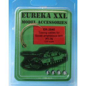 Eureka XXL 1:35 Towing cables w/resin endings for PT-76