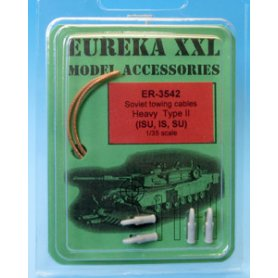 Eureka XXL 1:35 Towing cables w/resin endings for IS-2 / IS-3 / ISU-122 / ISU-152