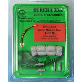 Eureka XXL 1:35 Towing cables w/resin endings for T-44M