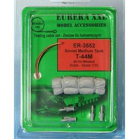 Eureka XXL 1:35 Liny holownicze z żywicznymi końcówkami do T-44M