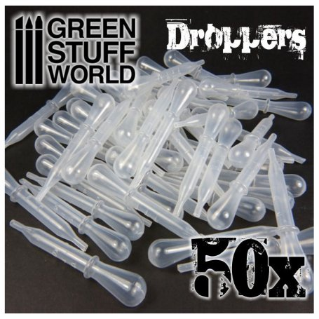 50x Droppers with Suction Bulb