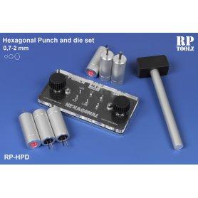 Hexagonal punch and die set
