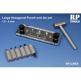 RP Toolz Large Hexagonal punch and die set