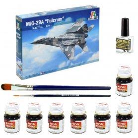 Italeri 1:72 MiG-29A Fulcrum (polski) | Model do sklejania + farby + klej + pędzelki