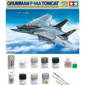 Tamiya 1:48 Grumman F-14A Tomcat | Model do sklejania + farby + klej + pędzelki