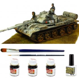 Tamiya 1:35 T-62 | Model do sklejania + farby + klej + pędzelki