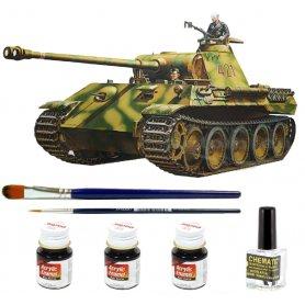 Tamiya 1:35 Panther | Model do sklejania + farby + klej + pędzelki