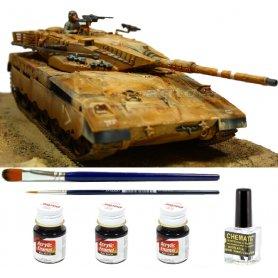 Tamiya 1:35 Merkava MBT | Model do sklejania + farby + klej + pędzelki