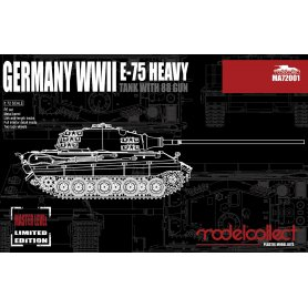Modelcollect MA72001 WWII E-75 Heavy Tank with 88