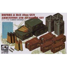 Afv Club 35189 1/35 40mm Bofors ammo & accessories