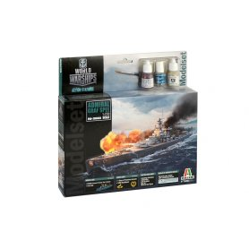 Italeri 1:720 WORLD OF WARSHIPS Admiral Graf Spee - MODEL SET - z farbami