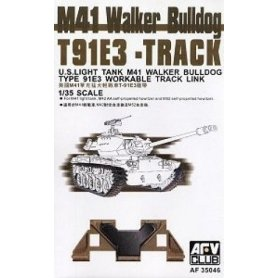 AFV Club 1:35 Ruchome gąsienice T91E3 do M41 Walker Bulldog