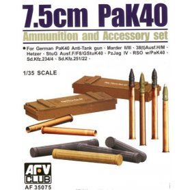 Afv Club 35075 7,5 Cm Pak 40 Acces.