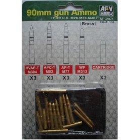 Afv Club 35076 90 Mm Gun Ammo