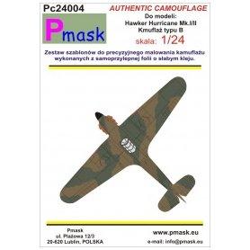 Pmask 1:24 Kamuflaż do Hawker Hurricane Typ B