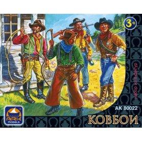Ark Models 80022 1/32 Cowboys 8 figurek 6,5cm