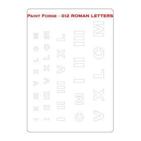 Szablon Roman Letters M