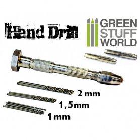 Green Stuff World Hand Drill with 10x Drill bits