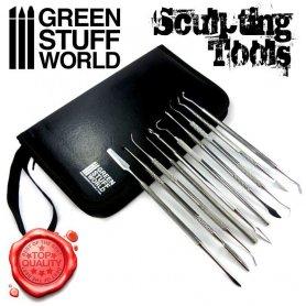 Green Stuff World Zestaw narzedzi do rzeźbienia / 10 sztuk PREMIUM