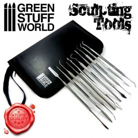 Green Stuff World Sculpting Tools SET x10 PREMIUM with case