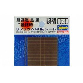 Hasegawa 72158 QG58 1:350 Shimakaze Linoleum Deck