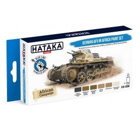 Hataka BLUE-LINE Zestaw farb GERMAN AFV IN AFRICA