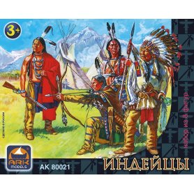 Ark Models 80021 1/32 Native Americans 8 figurek 6