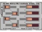 Eduard Walrus Mk.I seatbelts STEEL   AIRFIX