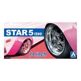 Aoshima 05439 1/24 Felgi Star 5 (5H) 14 inch