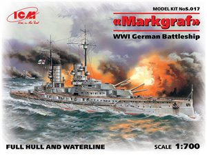 ICM S.017 WWI German Battleship Markgraf