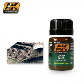AK Interactive AK-023 Dark Mud effect / 17ml