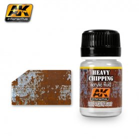 AK Interactive AK-089 HEAVY EFFECTS ACRYLIC FLUID