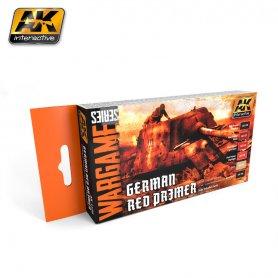 AK Interactive AK-1124 WARGAMES GERMAN RED PRIMER SET